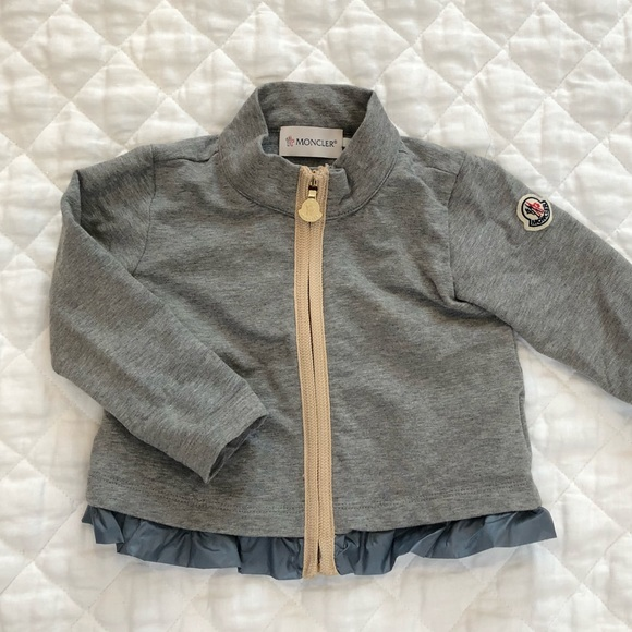 fc0dfffbb Baby Moncler Light Jacket with Gold Hardware